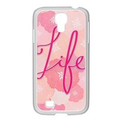 Life Typogrphic Samsung Galaxy S4 I9500/ I9505 Case (white)