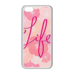 Life Typogrphic Apple Iphone 5c Seamless Case (white)