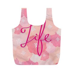 Life Typogrphic Full Print Recycle Bags (m)