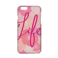 Life Typogrphic Apple Iphone 6/6s Hardshell Case