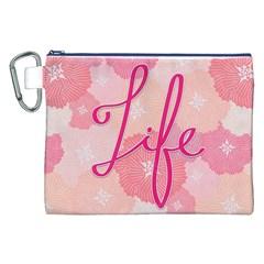 Life Typogrphic Canvas Cosmetic Bag (XXL)