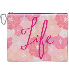 Life Typogrphic Canvas Cosmetic Bag (XXXL)
