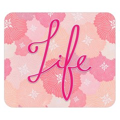 Life Typogrphic Double Sided Flano Blanket (Small)