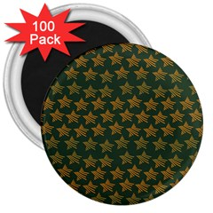 Stars Pattern Background 3  Magnets (100 pack)