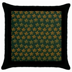 Stars Pattern Background Throw Pillow Case (black)