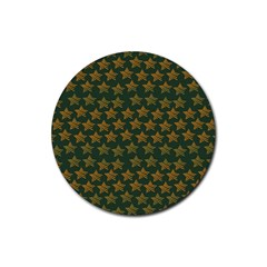 Stars Pattern Background Rubber Round Coaster (4 pack)
