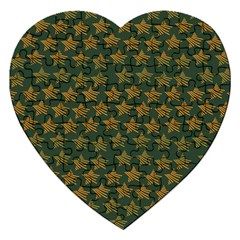 Stars Pattern Background Jigsaw Puzzle (heart)