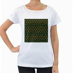 Stars Pattern Background Women s Loose-Fit T-Shirt (White)