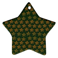 Stars Pattern Background Star Ornament (Two Sides)