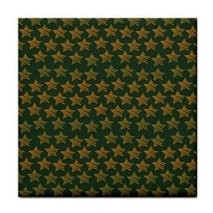 Stars Pattern Background Face Towel