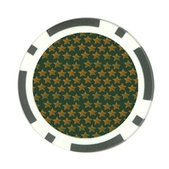 Stars Pattern Background Poker Chip Card Guard (10 pack)