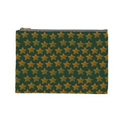 Stars Pattern Background Cosmetic Bag (Large)