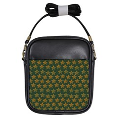 Stars Pattern Background Girls Sling Bags