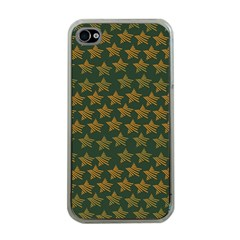Stars Pattern Background Apple Iphone 4 Case (clear)