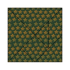 Stars Pattern Background Acrylic Tangram Puzzle (6  x 6 )