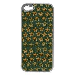 Stars Pattern Background Apple iPhone 5 Case (Silver)
