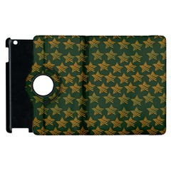 Stars Pattern Background Apple iPad 2 Flip 360 Case