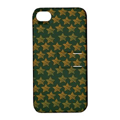 Stars Pattern Background Apple iPhone 4/4S Hardshell Case with Stand