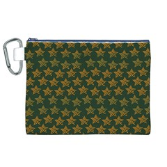 Stars Pattern Background Canvas Cosmetic Bag (xl)