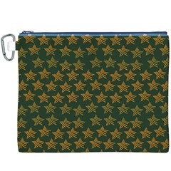 Stars Pattern Background Canvas Cosmetic Bag (XXXL)