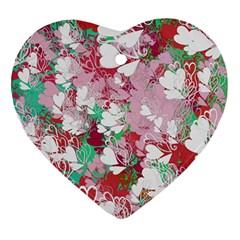 Confetti Hearts Digital Love Heart Background Pattern Ornament (heart)