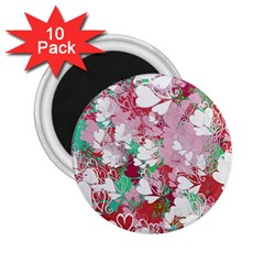 Confetti Hearts Digital Love Heart Background Pattern 2 25  Magnets (10 Pack)