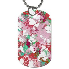 Confetti Hearts Digital Love Heart Background Pattern Dog Tag (one Side)