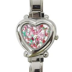 Confetti Hearts Digital Love Heart Background Pattern Heart Italian Charm Watch