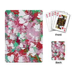 Confetti Hearts Digital Love Heart Background Pattern Playing Card