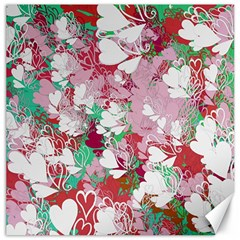 Confetti Hearts Digital Love Heart Background Pattern Canvas 12  X 12
