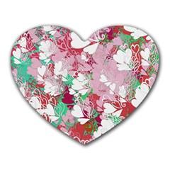Confetti Hearts Digital Love Heart Background Pattern Heart Mousepads