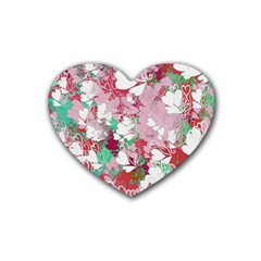 Confetti Hearts Digital Love Heart Background Pattern Heart Coaster (4 Pack)