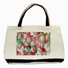 Confetti Hearts Digital Love Heart Background Pattern Basic Tote Bag (Two Sides)