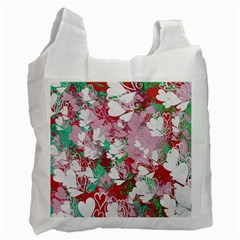 Confetti Hearts Digital Love Heart Background Pattern Recycle Bag (Two Side)
