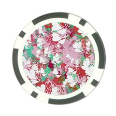 Confetti Hearts Digital Love Heart Background Pattern Poker Chip Card Guard (10 pack)