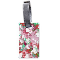Confetti Hearts Digital Love Heart Background Pattern Luggage Tags (One Side)