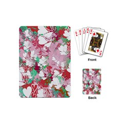 Confetti Hearts Digital Love Heart Background Pattern Playing Cards (mini)