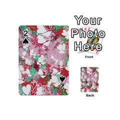 Confetti Hearts Digital Love Heart Background Pattern Playing Cards 54 (Mini)