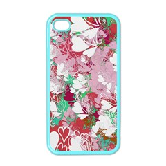 Confetti Hearts Digital Love Heart Background Pattern Apple Iphone 4 Case (color)