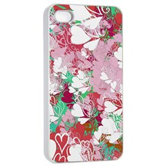 Confetti Hearts Digital Love Heart Background Pattern Apple iPhone 4/4s Seamless Case (White)
