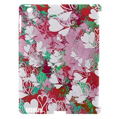 Confetti Hearts Digital Love Heart Background Pattern Apple iPad 3/4 Hardshell Case (Compatible with Smart Cover)