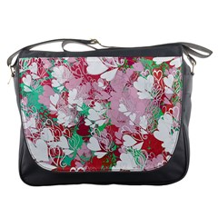 Confetti Hearts Digital Love Heart Background Pattern Messenger Bags