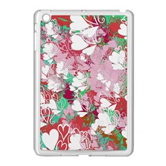 Confetti Hearts Digital Love Heart Background Pattern Apple Ipad Mini Case (white)