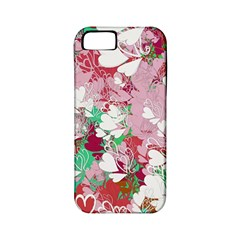 Confetti Hearts Digital Love Heart Background Pattern Apple iPhone 5 Classic Hardshell Case (PC+Silicone)