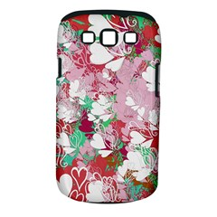 Confetti Hearts Digital Love Heart Background Pattern Samsung Galaxy S Iii Classic Hardshell Case (pc+silicone)