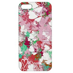 Confetti Hearts Digital Love Heart Background Pattern Apple Iphone 5 Hardshell Case With Stand
