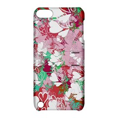 Confetti Hearts Digital Love Heart Background Pattern Apple Ipod Touch 5 Hardshell Case With Stand