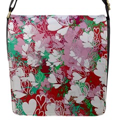 Confetti Hearts Digital Love Heart Background Pattern Flap Messenger Bag (S)