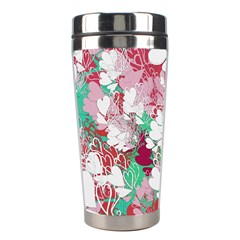 Confetti Hearts Digital Love Heart Background Pattern Stainless Steel Travel Tumblers