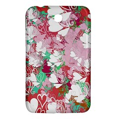 Confetti Hearts Digital Love Heart Background Pattern Samsung Galaxy Tab 3 (7 ) P3200 Hardshell Case